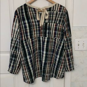 MYF Fausta Santi checkered top size large